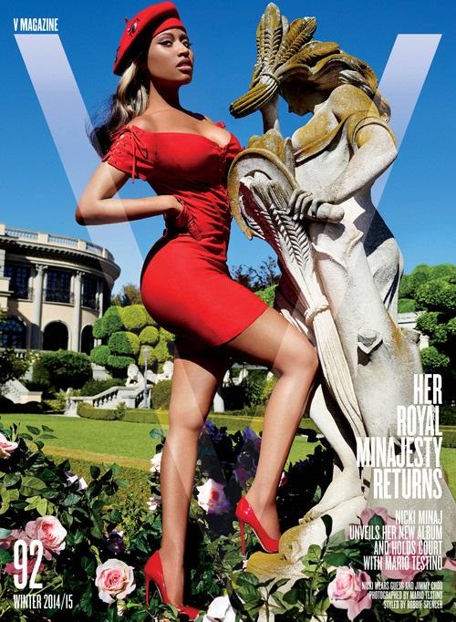 V Magazine Winter 2014 Nicki Minaj Mario Testino