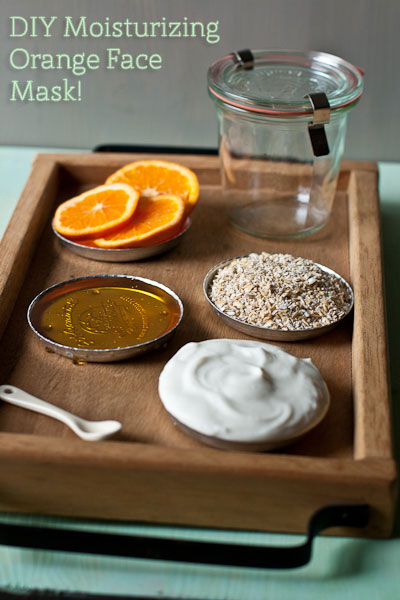 Orange Face Mask via Food Plus Words