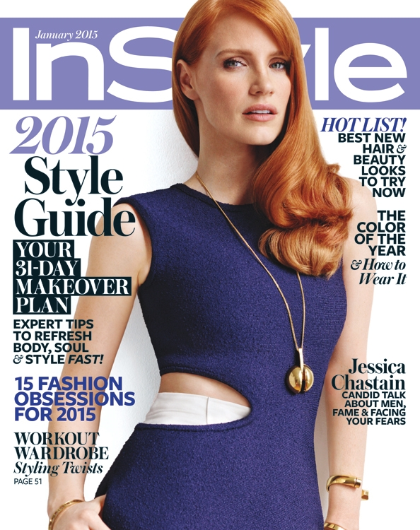 US InStyle January 2015 Jessica Chastain