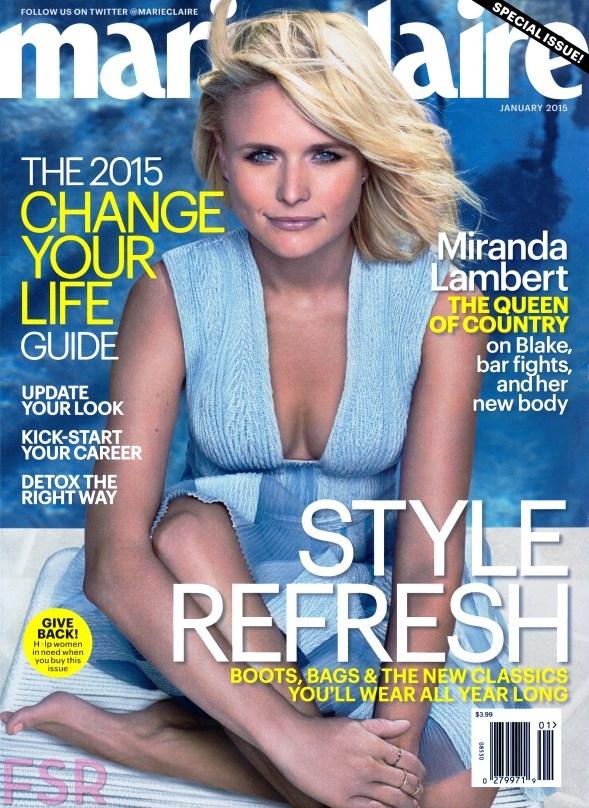 US Marie Claire January 2015 Miranda Lambert