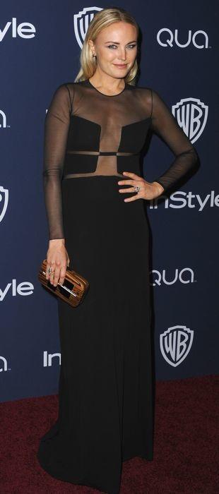 Malin Akerman in Ralph Rucci at 2014 Golden Globes party