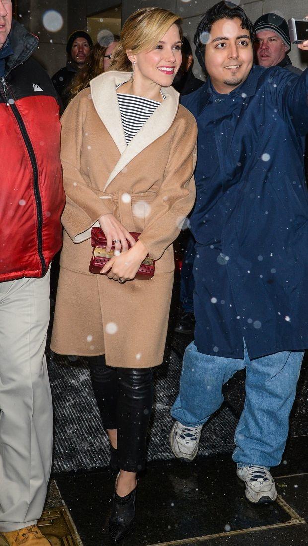 Sophia Bush sports Max Mara and Kate Spade in NYC