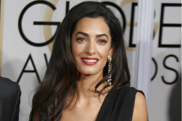 Amal Clooney pictured at the Golden Globes awards