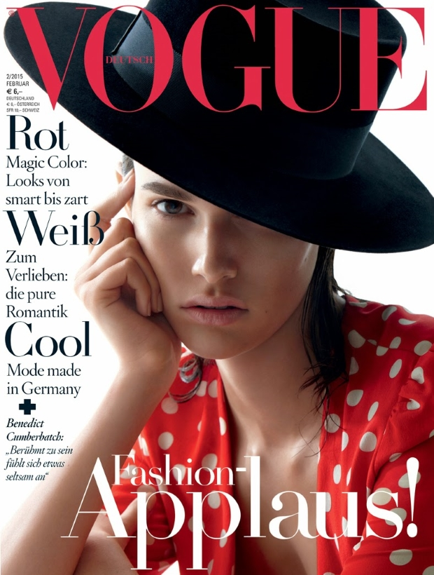Vogue Germany February 2015 Vanessa Moody