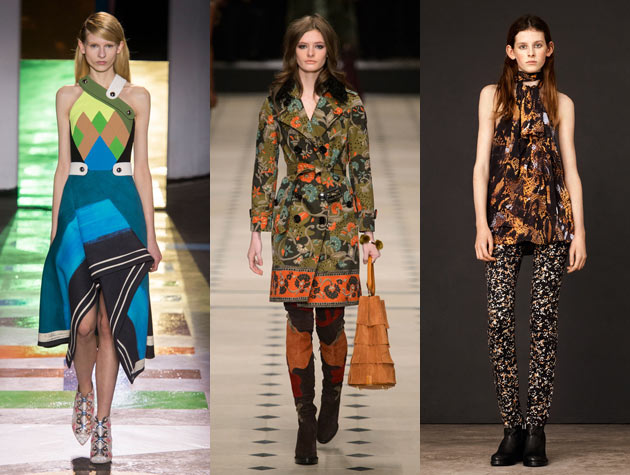 The Misses: Peter Pilotto, Burberry Prorsum, McQ Alexander McQueen. Images via IMAXtree and style.com.