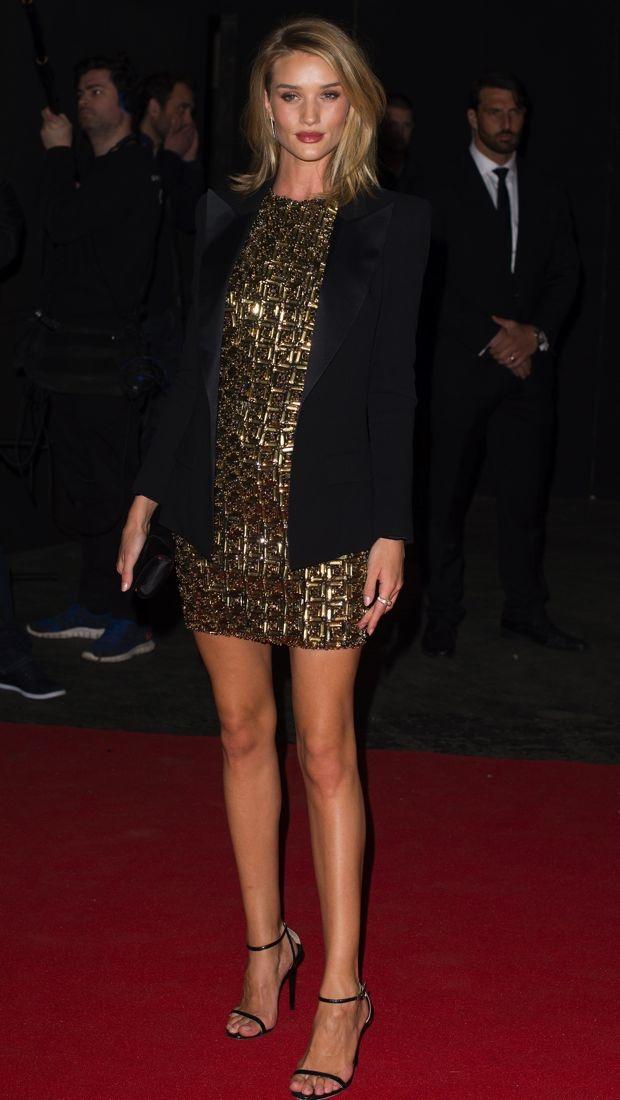 Rosie Huntington-Whiteley wears Antonio Berardi dress to BRIT Awards after-party