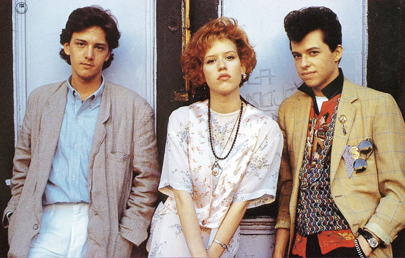 Andrew McCarthy, Molly Ringwald and Jon Cryer in Pretty in Pink