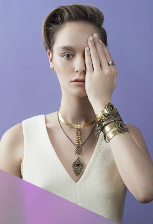 Biko Odyssey Necklace in Gold