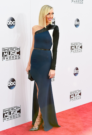 Giuliana Rancic in Alex Perry at the 2014 AMAs