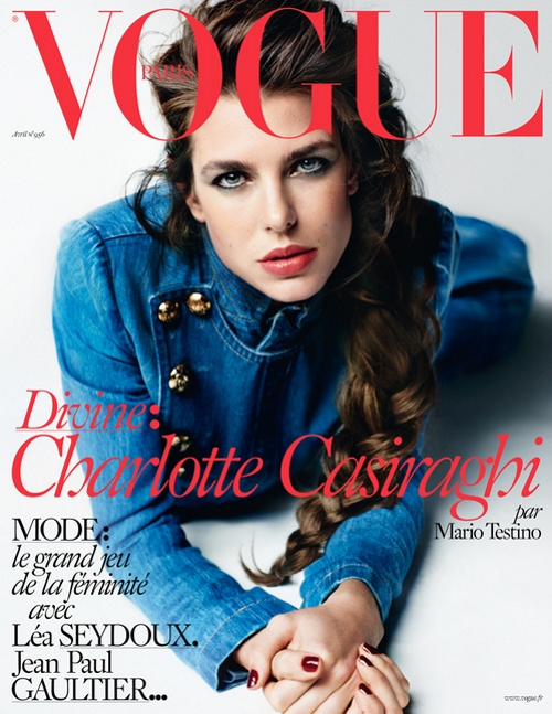 Vogue Paris April 2015 Charlotte Casiraghi Mario Testino