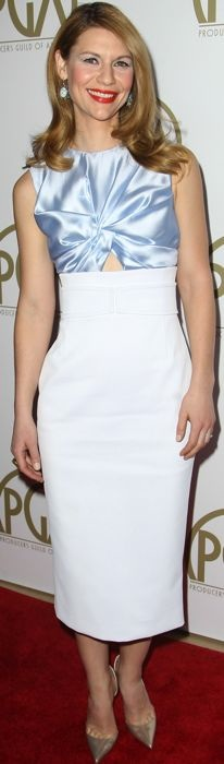 Claire Danes in Christian Dior at the 2014 Producers Guild Awards
