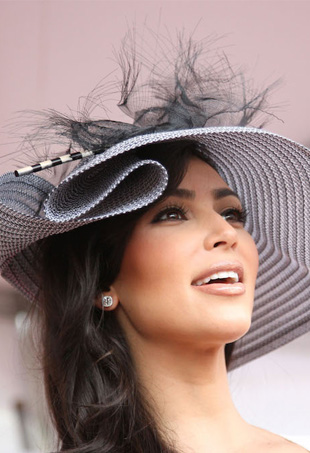 Kim Kardashian at the Kentucky Derby