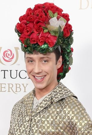 Johnny Weir at the 2015 Kentucky Derby.