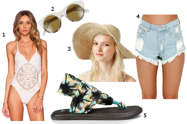 rooftop pool party look