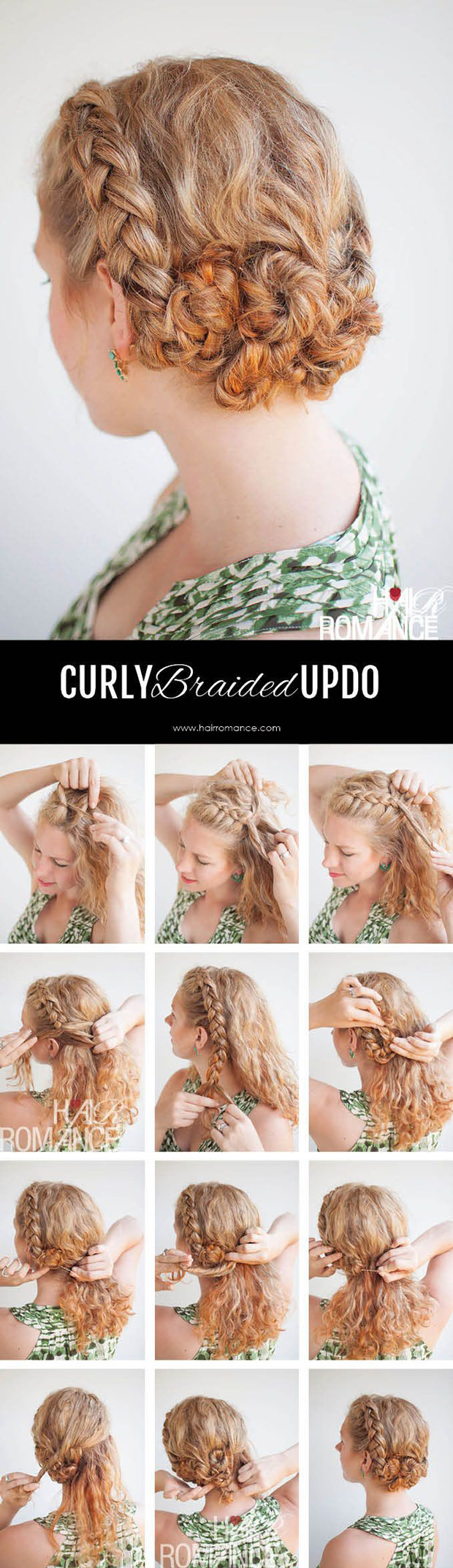 Easy Braids For Curly Hair The Fashion Spot