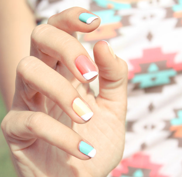 colorful-bright-memorial-day-summer-nail-art-ideas