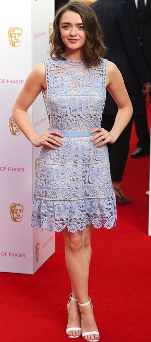 Maisie Williams in a lacy Self-Portrait dress at the 2015 BAFTA Television Awards