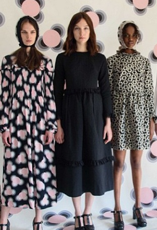 Models showcase Orla Kiely's resort collection.