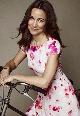 Pippa Middleton poses in charity designed dress for British Heart Foundation