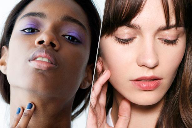 models wearing eyeshadow