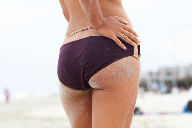 woman in bikini from behind