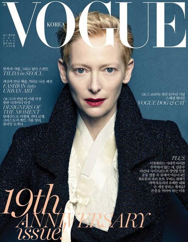 Vogue Korea August 2015 Tilda Swinton by Hong Jang Hyun