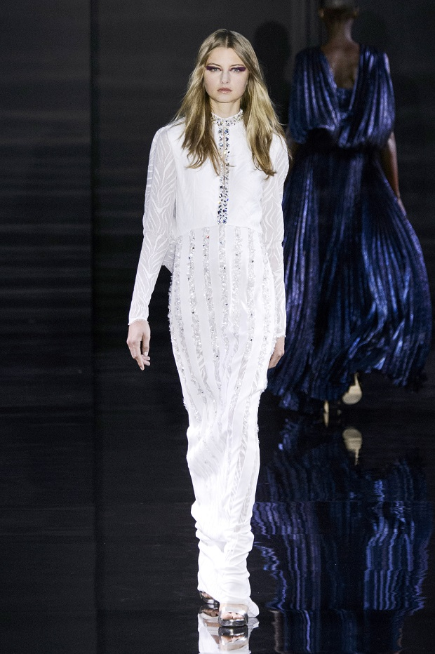 Georgie closed Azzaro's Haute Couture Fall 2015 show earlier this year