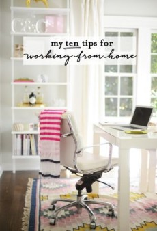 Blogger Emily Schuman's 10 Tips for Working from Home