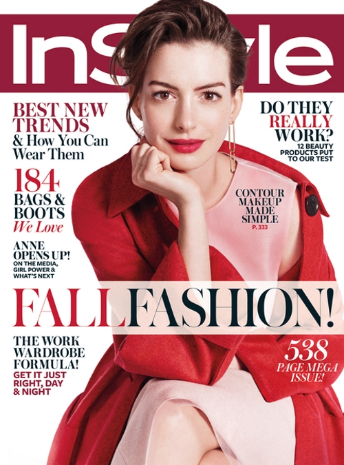 US InStyle September 2015 Anne Hathaway by Michelangelo Di Battista