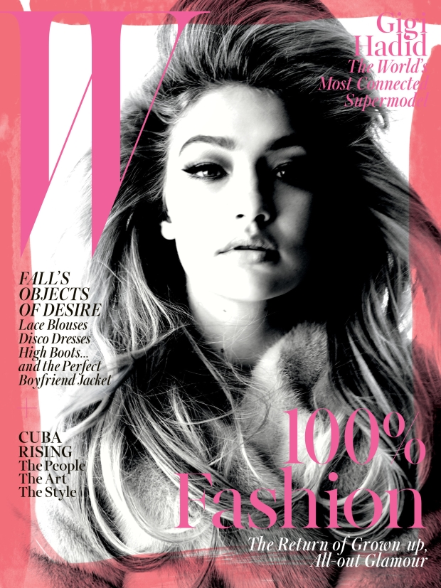 W Magazine September 2015 Gigi Hadid by Steven Meisel