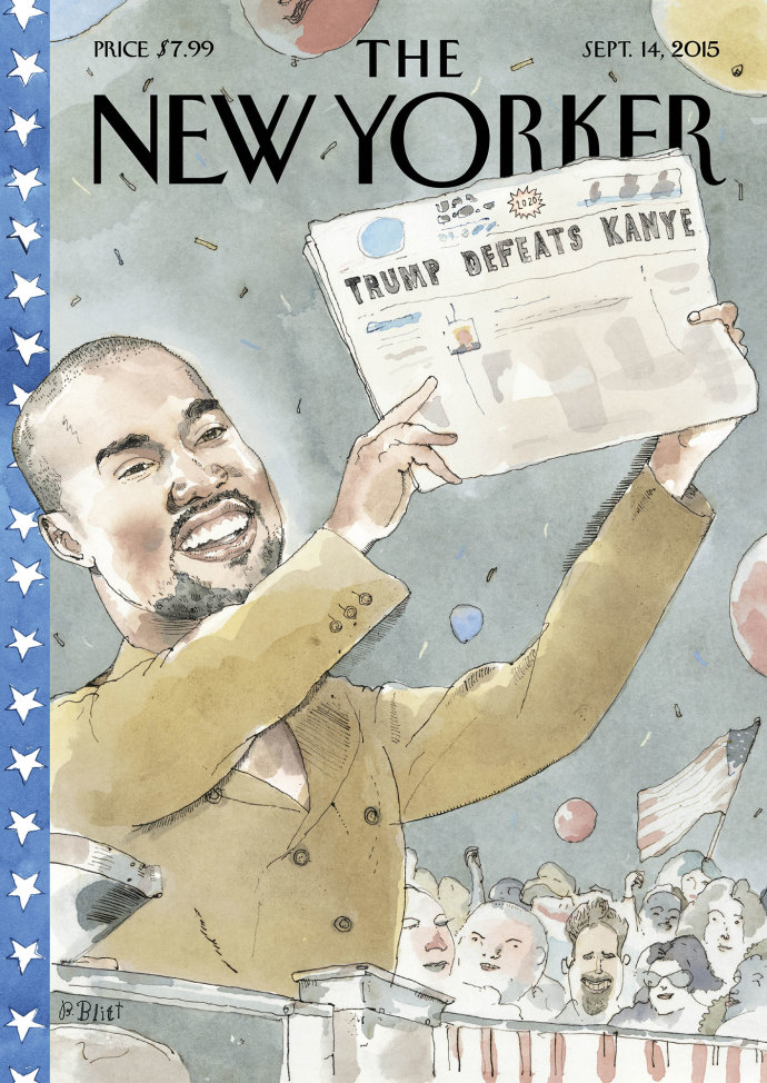 Kanye West New Yorker Cover
