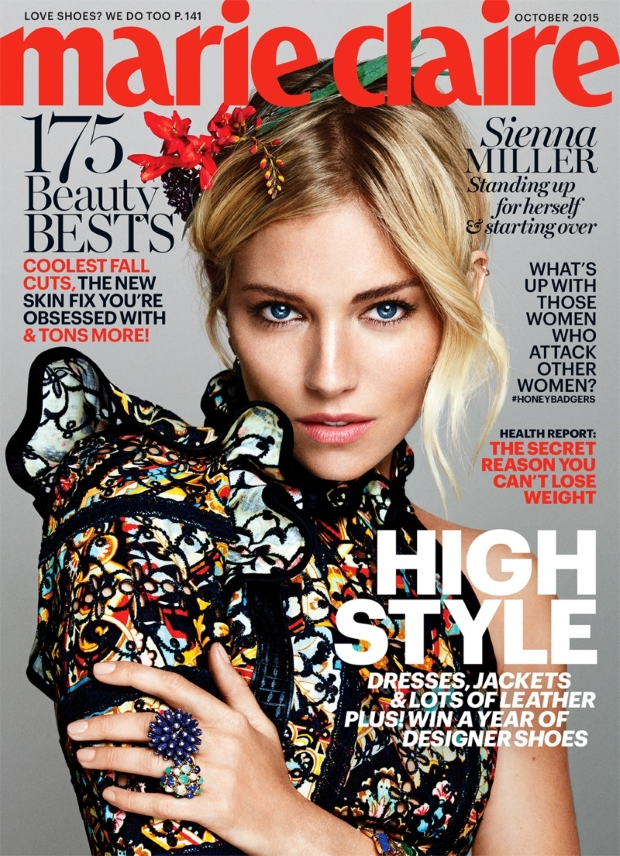 US Marie Claire October 2015 Sienna Miller by Txema Teste