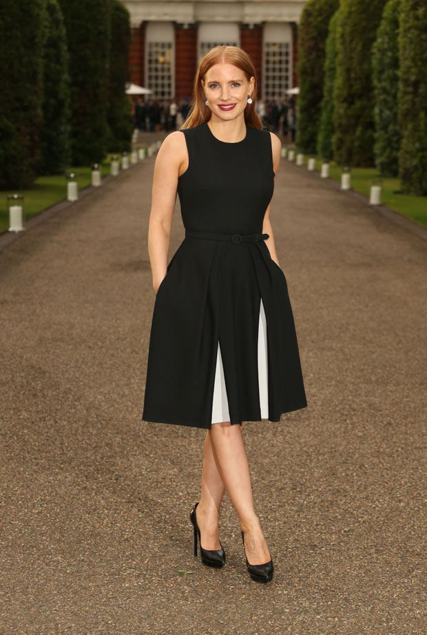 Jessica Chastain at Vogue and Ralph Lauren Wimbledon party