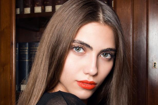 model with beautiful shiny hair