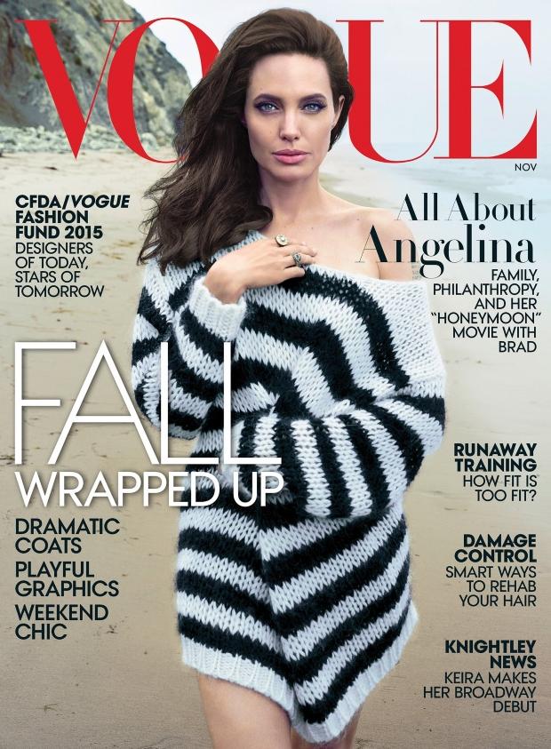 US Vogue November 2015 Angelina Jolie by Annie Leibovitz