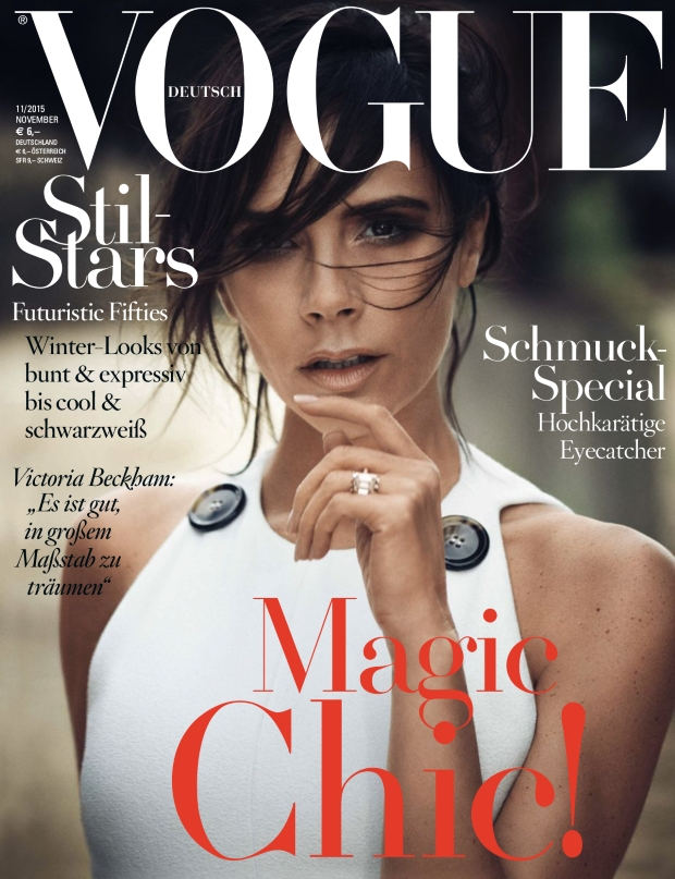 Vogue Germany November 2015 Victoria Beckham by Boo George