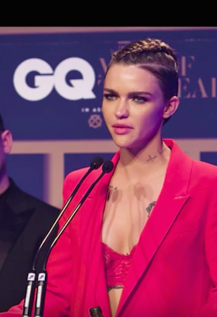 Ruby Rose delivers acceptance speech