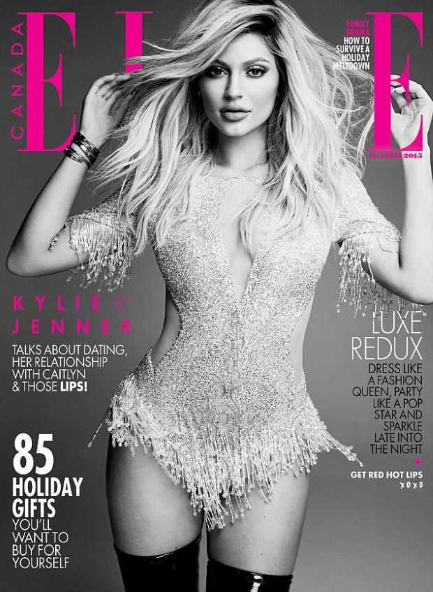 Elle Canada December 2015 Kylie Jenner by Max Abadian