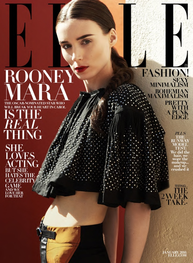 US Elle January 2016 : Rooney Mara by Cedric Buchet