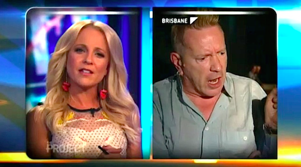 Carrie Bickmore and Johnny Rotten