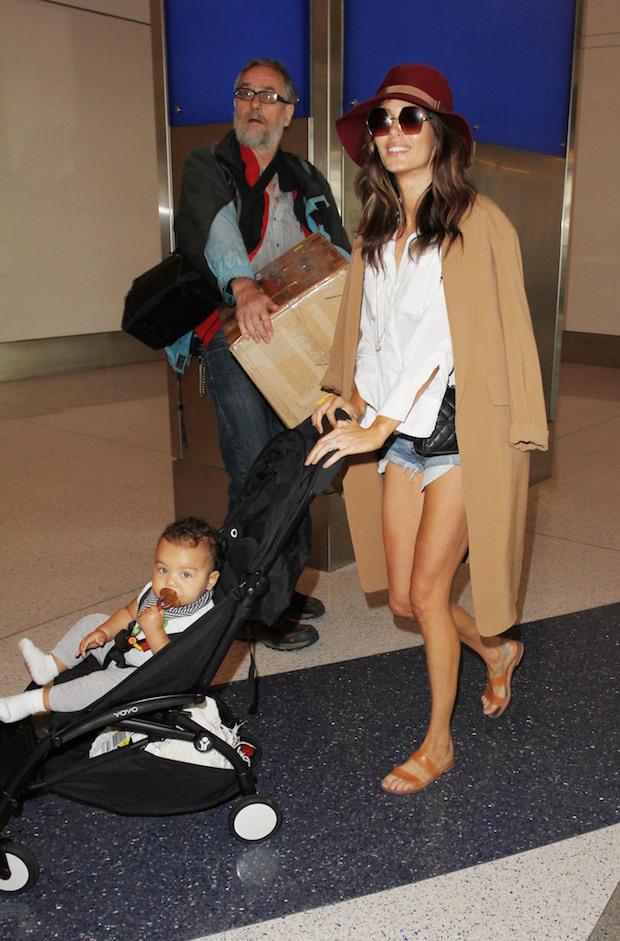 Nicole Trunfio and baby Zion