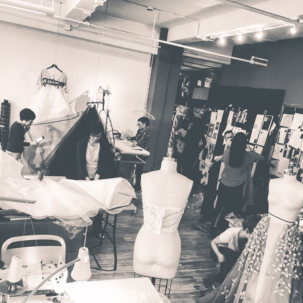 seamstresses at christian siriano studio