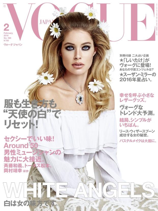 Vogue Japan February 2016 : Doutzen Kroes by Patrick Demarchelier
