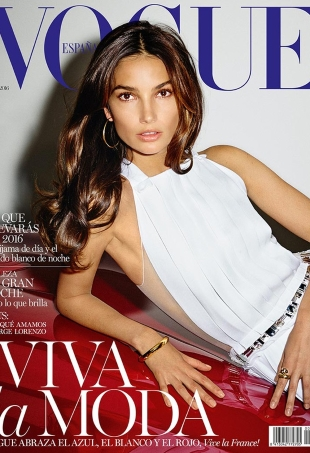 Vogue España January 2016 : Lily Aldridge by Ezra Pertonio