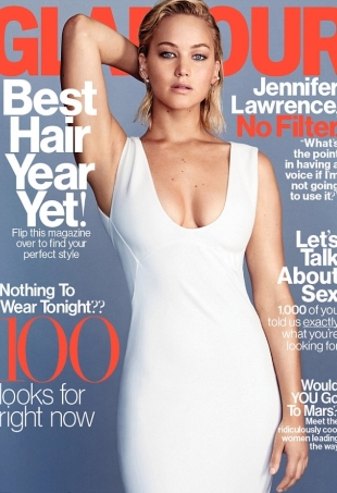 US Glamour February 2016 Jennifer Lawrence by Patrick Demarchelier