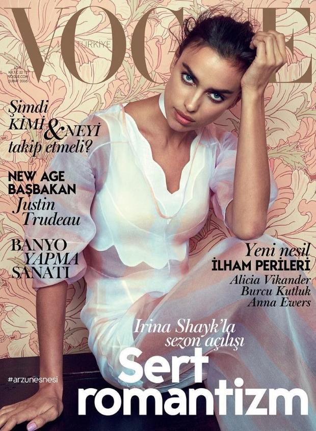 Vogue Turkey February 2016 : Irina Shayk by Norman Jean Roy