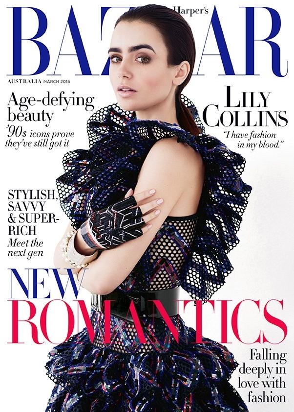Harper's Bazaar Australia March 2016 : Lily Collins by David Roemer