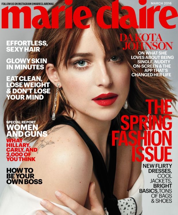 US Marie Claire March 2016 : Dakota Johnson by Txema Yeste