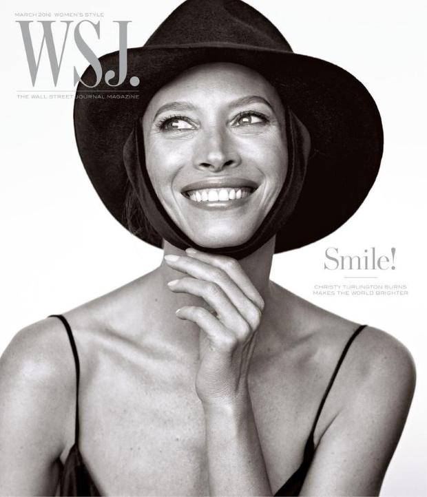 WSJ Magazine March 2016 : Christy Turlington by Mikael Jansson
