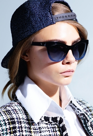 Chanel Eyewear S/S 2016 : Cara Delevingne by Karl Lagerfeld
